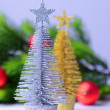 Decorative Christmas trees, fir tree branch, isolated on white — Stock Photo #35082929