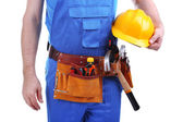 Builder isolated on white — Stock Photo