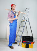 Portrait of young foreman in room — Stock Photo