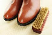 Shoe polishing close up — Stok fotoğraf