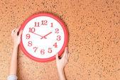 Clock on wall background — Foto de Stock