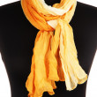 Mannequin wearing scarf isolated on white — Stock Photo