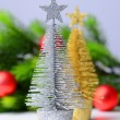 Decorative Christmas trees, fir tree branch, isolated on white — Stock Photo #35207825