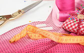 Sewing tools fashion design — Stock Photo