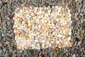 Frame of small sea stones, close up — Stock Photo