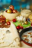 Process of making New Year cookies close-up — Stock Photo