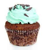 Tasty cupcake isolated on white — Stock Photo