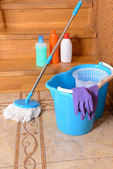 Cleaning equipment with mop — Stock Photo