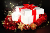 Gift box with bright light — Stock Photo
