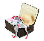 Suitcase with clothes — Stock Photo