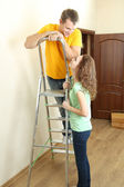 Couple doing renovation — Stock Photo