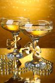 Two glasses of champagne — Foto de Stock