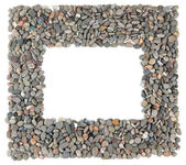 Frame of small sea stones — Stock Photo