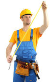 Portrait of young builder — Stock Photo