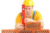 Ritratto di giovane builder — Foto Stock
