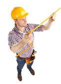 портрет молодой строитель — Стоковое фото
