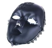 Mask on blue fabric background — Stock Photo