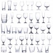Collage of empty glasses isolated on white — Stock Photo #35398407