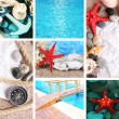 Sea theme collage — Stock Photo #35398497