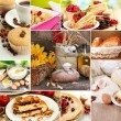 Foto Stock: Homemade cakes collage