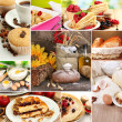 Stock Photo: Homemade cakes collage