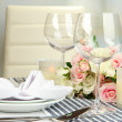 Table arrangement in restaurant — Stock Photo #35450331