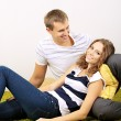 Stockfoto: Happy young couple at home