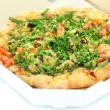 Tasty vegetarian pizza in box, close up — Stock Photo