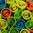 Stock Photo: Colorful quilling close-up