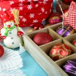 Beautiful Christmas composition with Christmas toys close-up — Foto de Stock