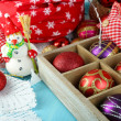 Beautiful Christmas composition with Christmas toys close-up — Foto Stock