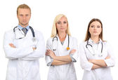 Medical workers isolated on white — Stockfoto