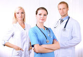 Medical workers in office — Stock Photo