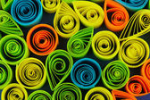 Colorful quilling close-up — Zdjęcie stockowe
