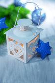 Christmas lantern on light background — ストック写真