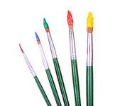 Many brushes isolated on white — Stockfoto