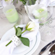 Table arrangement in restaurant — Stock Photo #35521585