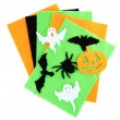 Bright felt and handmade Halloween decorations, isolated on white — Stock Photo #35522079