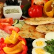 Traditional Turkish breakfast close up — Stock Photo #35523297