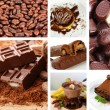 Chocolate collage — Stock Photo #35558437