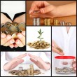 Stock Photo: Finance concept collage