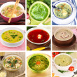 Collage of different soups — Stock Photo #35558523