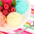 Delicious ice cream close-up — Stock Photo