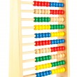 Stock Photo: Bright wooden toy abacus, isolated on white