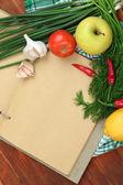 концепция приготовления пищи. продукты с пустой кулинарной крупным планом — Стоковое фото