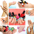 Collage of beautiful woman manicure — Stock Photo #35689767