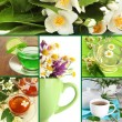 Collage of healthy green tea — Stock Photo #35689805