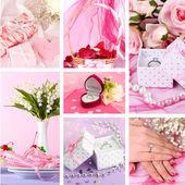 Wedding collage — Stock Photo