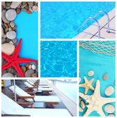 Sea theme collage — Stock Photo