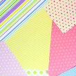 Paper for scrapbooking, close up — Stock Photo
